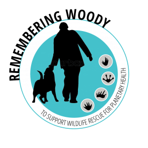 remembering woody logo