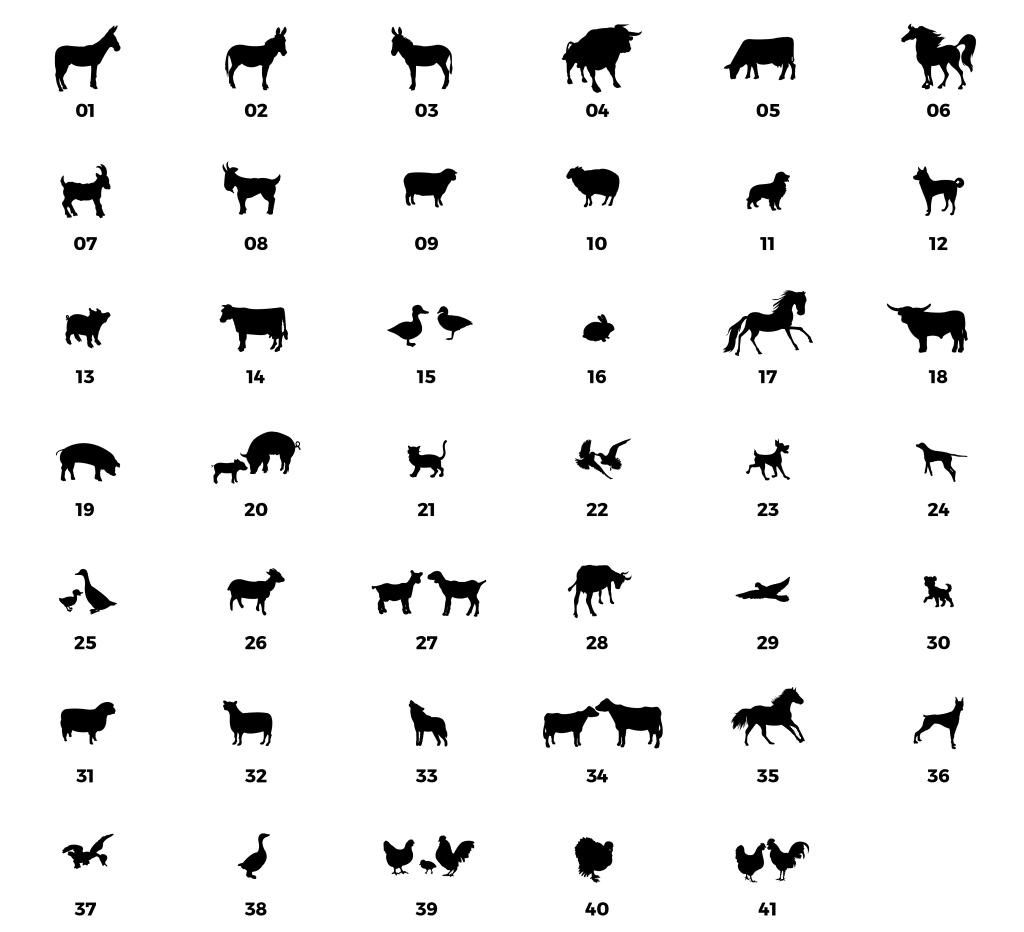 silhouette option farm animals from remembering woody